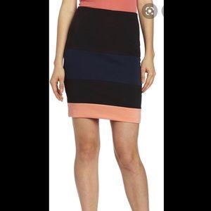 BCbgeneration tricolor Blocked Skirt size S